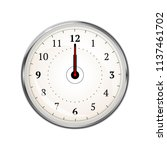 realistic clock face showing 12 ... | Shutterstock .eps vector #1137461702