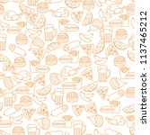 seamless pattern with different ... | Shutterstock .eps vector #1137465212