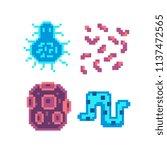 bacteria microbe virus parasite ... | Shutterstock .eps vector #1137472565