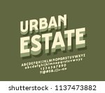 vector minimalistic sign urban... | Shutterstock .eps vector #1137473882