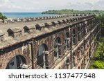 cellular jail in port blair ... | Shutterstock . vector #1137477548