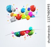 color glossy happy birthday... | Shutterstock .eps vector #1137480995