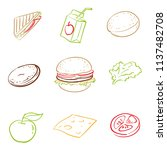 hanburger products set | Shutterstock .eps vector #1137482708