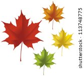 A Maple Leaf In Red  Yellow ...