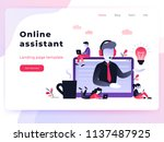 landing page template customer... | Shutterstock .eps vector #1137487925