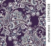 paisley vector seamless pattern.... | Shutterstock .eps vector #1137491828
