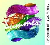 imitation multicolored...   Shutterstock .eps vector #1137493562