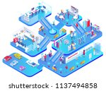 shopping mall concept isolated... | Shutterstock .eps vector #1137494858