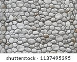 modern stone wall in medieval... | Shutterstock . vector #1137495395