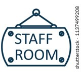 staff room isolated vector... | Shutterstock .eps vector #1137499208