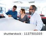 printing team at industry... | Shutterstock . vector #1137501035