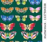 butterfly watercolor... | Shutterstock . vector #1137504338