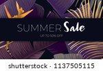 summer vector floral sale... | Shutterstock .eps vector #1137505115