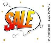 sale. background in pop art... | Shutterstock . vector #1137509642