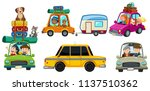 a set of car road trip... | Shutterstock .eps vector #1137510362