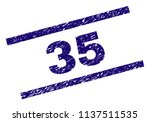 35 stamp seal watermark with... | Shutterstock .eps vector #1137511535
