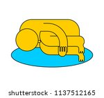 whiner icon. sad man crying... | Shutterstock .eps vector #1137512165