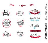 bundle of lettering quotes with ... | Shutterstock .eps vector #1137512912