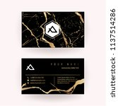 luxury business card with... | Shutterstock .eps vector #1137514286