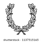 floral wreath branches set.... | Shutterstock . vector #1137515165