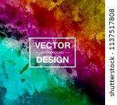 modern watercolor vector... | Shutterstock .eps vector #1137517808