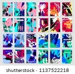 vector set of art cards ... | Shutterstock .eps vector #1137522218