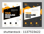 brochure design template vector.... | Shutterstock .eps vector #1137523622