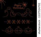set of one line halloween... | Shutterstock .eps vector #1137524702