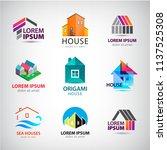 vecor set of house  building... | Shutterstock .eps vector #1137525308
