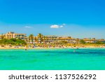 holiday resorts stretched... | Shutterstock . vector #1137526292