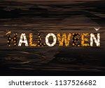 happy halloween lettering.... | Shutterstock .eps vector #1137526682