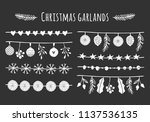 collection of vector christmas... | Shutterstock .eps vector #1137536135