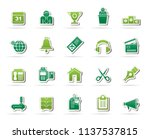 business and office equipment... | Shutterstock .eps vector #1137537815