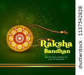 happy raksha bandhan indian... | Shutterstock .eps vector #1137542828