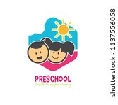 preschool logo design.... | Shutterstock .eps vector #1137556058