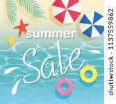summer sale and beach... | Shutterstock .eps vector #1137559862