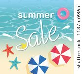 summer sale and beach... | Shutterstock .eps vector #1137559865
