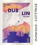 modern ireland dublin skyline... | Shutterstock .eps vector #1137578618