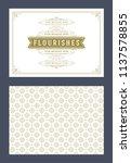 vintage ornament greeting card... | Shutterstock .eps vector #1137578855