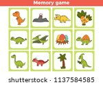 printable memory game for... | Shutterstock .eps vector #1137584585