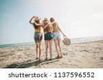 beach summer holiday sea people ... | Shutterstock . vector #1137596552
