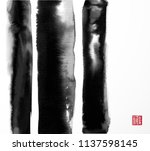abstract black ink wash... | Shutterstock .eps vector #1137598145