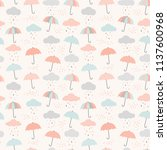 Vector Umbrella Pattern With...