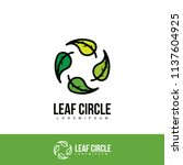 circle leaf logo. abstract... | Shutterstock .eps vector #1137604925