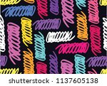 color abstract vector pattern... | Shutterstock .eps vector #1137605138