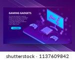 vector 3d isometric template... | Shutterstock .eps vector #1137609842
