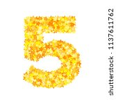 vector yellow stars font ... | Shutterstock .eps vector #1137611762