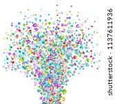 vector colorful gem stones... | Shutterstock .eps vector #1137611936