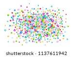 vector colorful gem stones... | Shutterstock .eps vector #1137611942