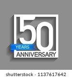 50 years anniversary... | Shutterstock .eps vector #1137617642